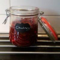 Chutney met cranberry en appel
